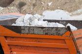 Marble quarry, white marble — Fotografia Stock