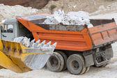Marble quarry, white marble — Stock Photo