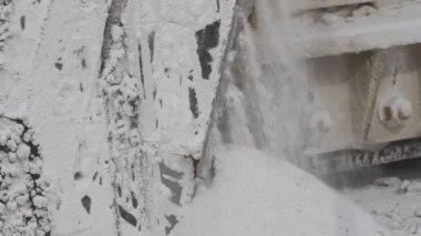 Marmo di cava di marmo, bianco, pietra taglio — Video Stock