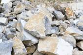 Marble quarry, stone texture, Stone Quarrying — Stock Photo