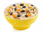 Bowl of cereals muesli on white  — Foto Stock