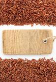 Rice grain on white  — Stock Photo