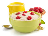 Bowl of oatmeal — Stock Photo