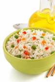 Bowl with rice — Stock Photo