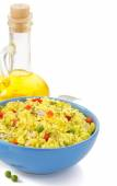 Bowl full of rice — Stock Photo