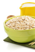 Bowl of oat flake — Stock Photo