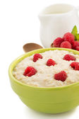 Bowl of oatmeal — Stock Photo