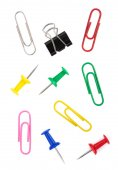 Pushpin and paper clip — Stock Photo