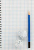 pencil at checked paper  — Foto Stock