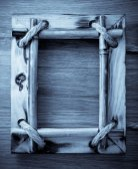 Ramka na zdjęcia na drewno — Zdjęcie stockowe