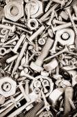 Hardware tools as background  — Stock Photo