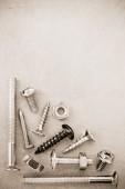 五金工具在金属背景 — 图库照片