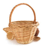 Brown Wicker baskets — Stock Photo