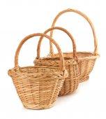 Brown Wicker baskets — Stock Photo