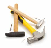 Hammers and nails — Stock Photo