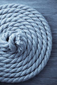Ship rope on wood — Stock Photo