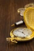 Stary zegarek kieszonkowy — Zdjęcie stockowe