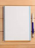 检查的笔记本背景 — 图库照片