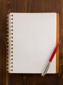 Geprüfte notebook hintergrund — Stockfoto
