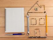 Engineering concept background — Stock Photo