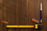 Tape measure and pencil — Stock Photo