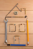 Engineering concept with tools — Stock Photo