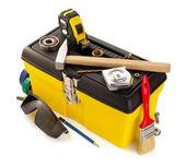 Utensili e strumenti con toolbox — Foto Stock