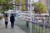 Eagle Street Pier in Brisbane — Stock Photo