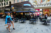 Visitors at Queen Street Mall — Stock Photo