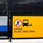 Danger do not cross road — Stock Photo #54887007