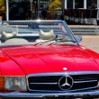 Постер, плакат: Red Mercedes Benz 560SL