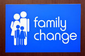 Family change sign — Stock Photo