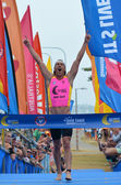 Josh Minogue wins Coolangatta Gold 2014 — Stock Photo