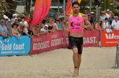 Caine Eckstein race in Coolangatta Gold 2014 — Stock Photo