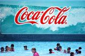 Coca-Cola billboard — Stok fotoğraf