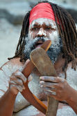 Portrait of one Yugambeh Aboriginal man — Stock Photo