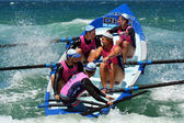 Surf rowers on Gold Coast Queensland Australia — Stock Photo
