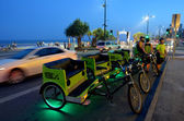 Cycle rickshaw cabs in Gold Coast Queensland Australia — Stock Photo