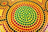 Abstract patterns of Indigenous Australian artwork — Stock Photo