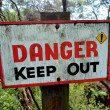Danger keep out sign — Stock Photo #62197661