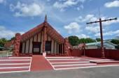 Te Papaiouru Marae in, Rotorua, New Zealand — Foto Stock