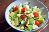 Green garden salad — Stock Photo