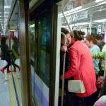 Passengers in Shanghai Metro - China — Stock Photo #73464359