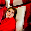 Little girl in a plane — Stock Photo #73476755
