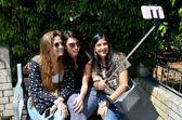 Girlfriend taking selfie — Stock Photo