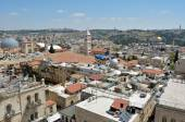 Urban aerial view of Jerusalem Old City - Israel — Stock Photo