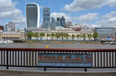 The skyline of city of London — Stock Photo