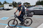 San Francisco - Police bicycle — Stock Photo