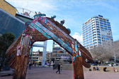 Aotea Square in Auckland - New Zealand — Stock Photo