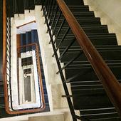Rectangular staircase — Stock Photo